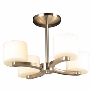 PLC 7618-SN De Lion Contemporary Satin Nickel Halogen Mini Chandelier Light