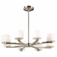 PLC 7619-SN De Lion Modern Satin Nickel Halogen Chandelier Lighting