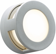 PLC 8018SLLED Daytona Contemporary Silver LED Outdoor Sconce Lighting