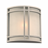 PLC 8045SL Summa Contemporary Silver Exterior Wall Mounted Lamp
