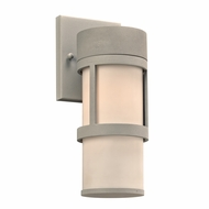 PLC 8047SL Qubert Contemporary Silver Exterior Wall Lighting Fixture