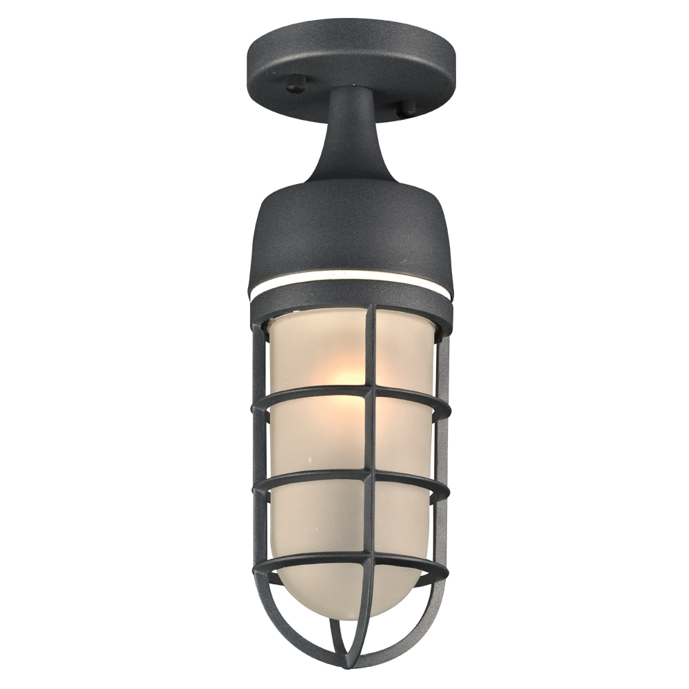 PLC 8052BZ Cage Modern Bronze Outdoor Flush Mount Light Fixture ...