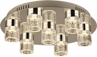 PLC 81117PC Yoki Contemporary Polished Chrome LED Ceiling Light Fixture