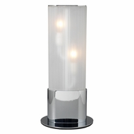 PLC 81350-PC Flambeau Modern Polished Chrome Table Top Lamp