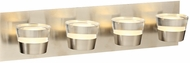 PLC 90064SN Sitra Contemporary Satin Nickel LED 4-Light Bathroom Lighting Sconce