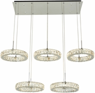 PLC 90070PC Equis Polished Chrome LED Island Lighting