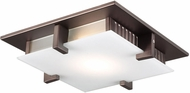 PLC 907ORBLED polipo Contemporary Oil Rubbed Bronze LED 20  Flush Mount Ceiling Light Fixture