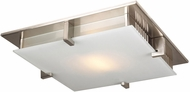 PLC 908SNLED polipo Modern Satin Nickel LED 16  Overhead Lighting Fixture