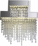 PLC 91134PC Camelot Polished Chrome LED Wall Mounted Lamp