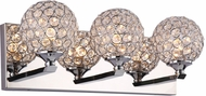 PLC 92703PC Alexa Polished Chrome LED 3-Light Bath Lighting Fixture