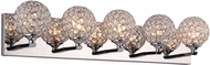PLC 92705PC Alexa Polished Chrome LED 5-Light Bathroom Vanity Lighting