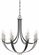 Quoizel ANA5008K Alana Modern Mystic Black Chandelier Lighting