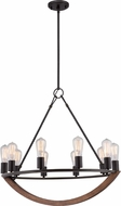 Quoizel ANR5010IB Anchor Retro Imperial Bronze Ceiling Chandelier