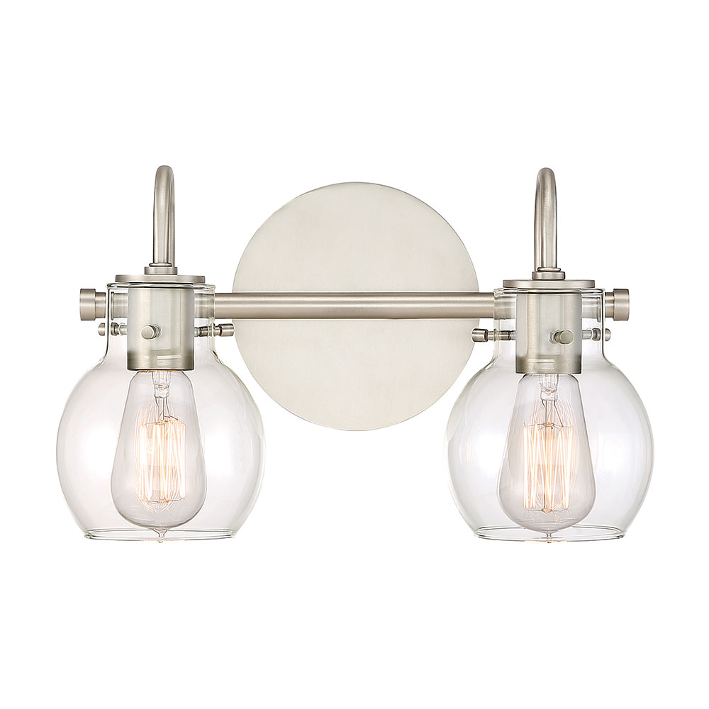 Quoizel ANW8602AN Andrews Contemporary Antique Nickel 2 Light Bathroom  Lighting. Loading Zoom