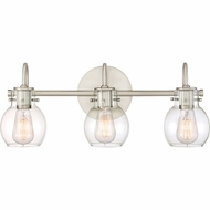 Quoizel ANW8603AN Andrews Modern Antique Nickel 3-Light Lighting For Bathroom