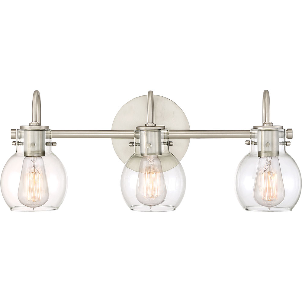 Quoizel ANW8603AN Andrews Modern Antique Nickel 3-Light Lighting For ...
