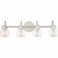 Quoizel ANW8604AN Andrews Contemporary Antique Nickel 4-Light Bath Lighting