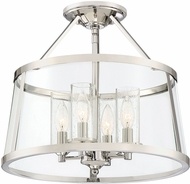 Quoizel BAW1716PK Barlow Modern Polished Nickel Ceiling Lighting