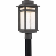 Quoizel BEC9009SBK Beacon Stone Black LED Outdoor Post Lighting