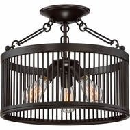 Quoizel BGD1716WT Belgrade Contemporary Western Bronze Ceiling Light Fixture