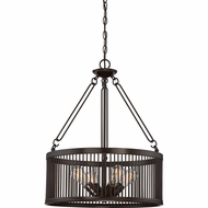 Quoizel BGD2820WT Belgrade Modern Western Bronze Drum Lighting Pendant