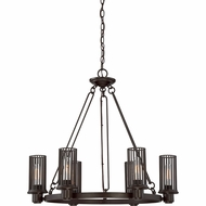 Quoizel BGD5006WT Belgrade Contemporary Western Bronze Chandelier Light