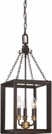 Quoizel BKH5303WT Brook Hall Western Bronze Mini Chandelier Lighting