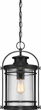 Quoizel BKR1910KFL Booker Mystic Black Fluorescent Exterior Hanging Pendant Lighting