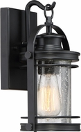 Quoizel BKR8406KFL Booker Mystic Black Fluorescent Exterior 6.75  Wall Lighting