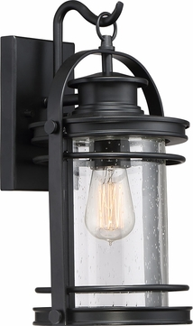 Quoizel BKR8408K Booker Mystic Black Outdoor 9  Sconce Lighting