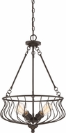 Quoizel BNS2818WT Baroness Western Bronze Pendant Hanging Light