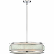 Quoizel BNY2822C Boundary Contemporary Polished Chrome 22.5  Drum Hanging Light