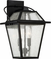Quoizel BRE8409K Black Ridge Mystic Black Outdoor 9  Wall Lamp
