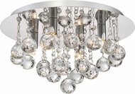 Quoizel BRX1614C Bordeaux With Clear Crystal Polished Chrome Xenon Ceiling Light Fixture