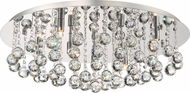 Quoizel BRX1626C Bordeaux With Clear Crystal Polished Chrome Xenon Ceiling Lighting Fixture