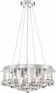 Quoizel BRX2818C Bordeaux With Clear Crystal Polished Chrome Xenon Pendant Lighting Fixture