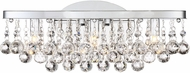 Quoizel BRX8603CLED Bordeaux w/ Clear Crystal Polished Chrome LED 17  Bathroom Lighting