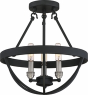 Quoizel BSN1714EK Basin Contemporary Earth Black Ceiling Light