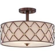 Quoizel BWL1717CC Brown Lattice Copper Canyon Finish 11 Tall Ceiling Lighting