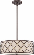 Quoizel BWL2817CC Brown Lattice Copper Canyon Drum Hanging Lamp