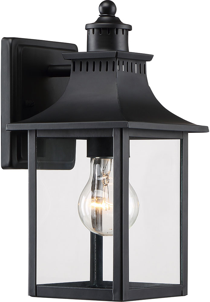 Quoizel ccr8406k chancellor mystic black exterior 5 5 sconce lighting loading zoom