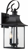 Quoizel CCR8408K Chancellor Mystic Black Outdoor 8  Light Sconce