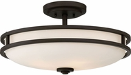 Quoizel CDT1719OZ Cadet Modern Old Bronze 19.25  Flush Lighting