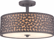 Quoizel CKCF1717RK Confetti Contemporary Rustic Black Flush Mount Ceiling Light Fixture