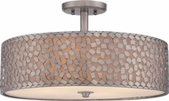 Quoizel CKCF1720OS Confetti Contemporary Old Silver Flush Lighting