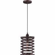Quoizel CKNK1509BV Nikos Retro Burnished Silver Finish 14  Tall Mini Pendant Hanging Light