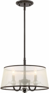 Quoizel CRY1716PN Ceremony Palladian Bronze Drum Pendant Light