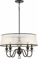 Quoizel CRY5005PN Ceremony Palladian Bronze Drum Lighting Pendant