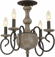 Quoizel CS1718RK Castile Rustic Black Overhead Lighting
