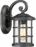 Quoizel CSE8406EK Crusade Earth Black Outdoor 6  Wall Light Fixture
